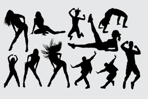 Sinnlich und sport aktivität silhouette
