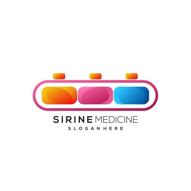 Sirenenlogo bunter farbverlauf