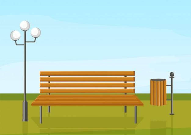 Sitzbank im park