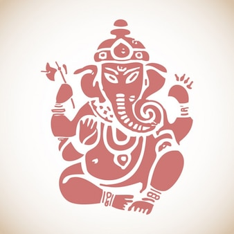 Sitzen Ganesh Illustration