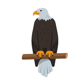 Sitzendes nordamerikanisches weißkopfseeadler-vogelsymbol