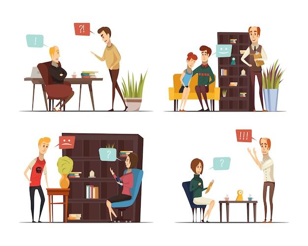 Sitzung der flachen zusammensetzungen des psychologen
