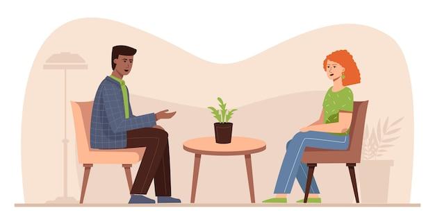 Sitzung mit einem psychologen