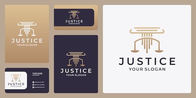 Skalen-vektor-illustration. anwalt logo-vektor-design. logo-designvorlage für justizgesetze