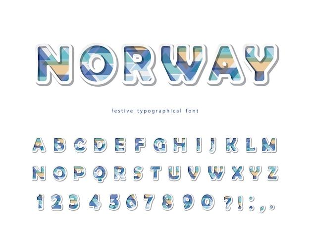 Skandinavische schriftart