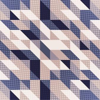 Skandinavischer arthintergrund in den blauen und purpurroten tönen