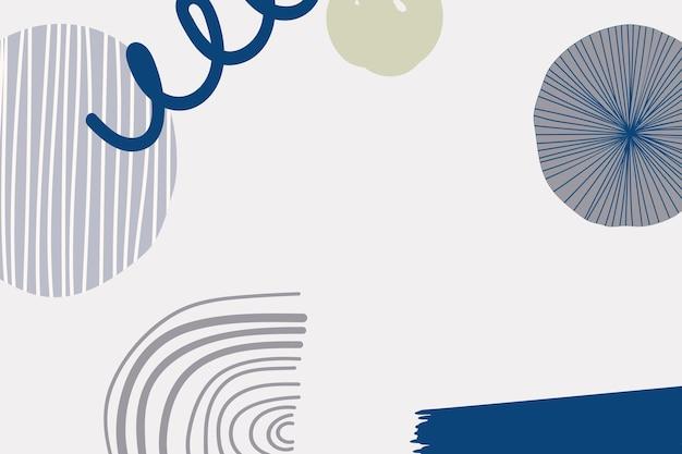 Skandinavischer hintergrund aus der mitte des jahrhunderts in mattem blau