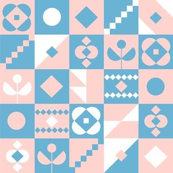 Skandinavisches designmuster mit flachem design