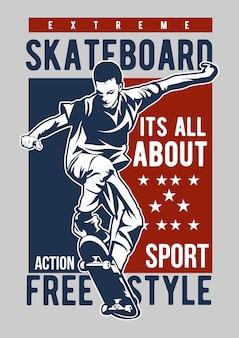 Skate board freestyle