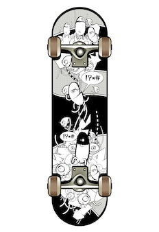 Skate mit graffiti-design