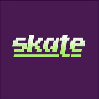 Skate - typografie