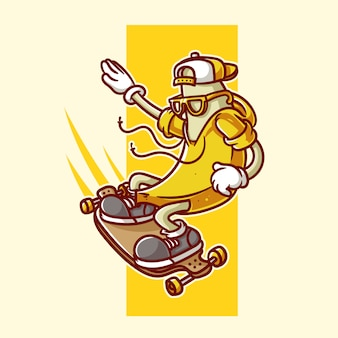 Skateboard banane