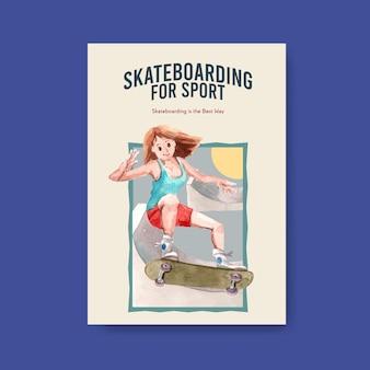 Skateboard design konzept vektor-illustration.