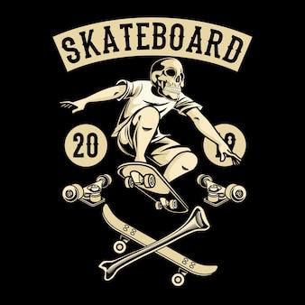 Skateboard-schädel