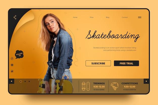 Skateboarding macht spaß landing page