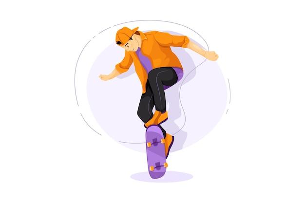 Skateboarding vektor-illustrationskonzept