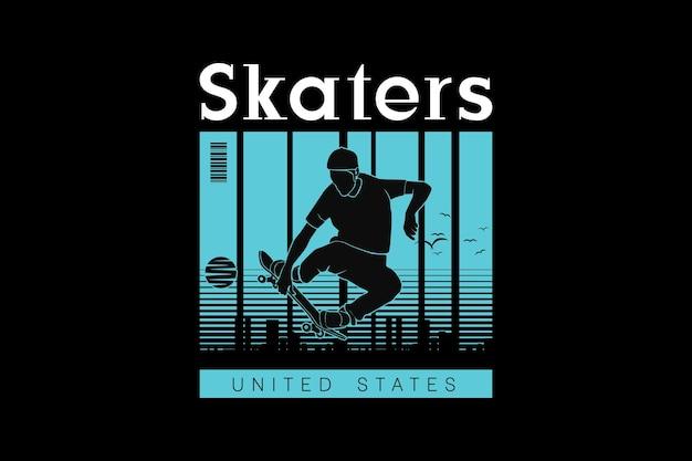 Skater, entwerfen sleety retro-stil