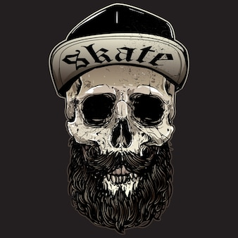 Skater schädel design