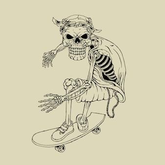 Skeleton skateboarding