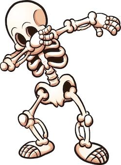 Skelett betupfen