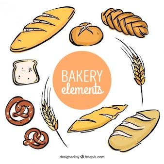 Sketches bäckerei elemente