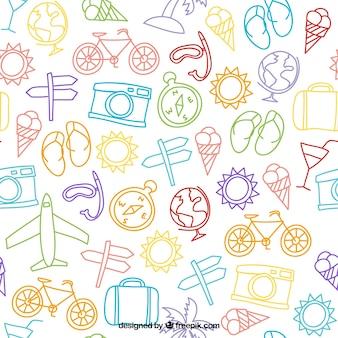 Sketches reisen elemente muster