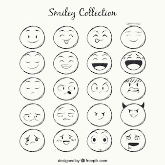 Sketches smiley-sammlung