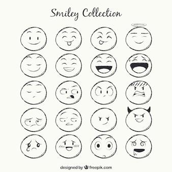 Sketches smiley-sammlung