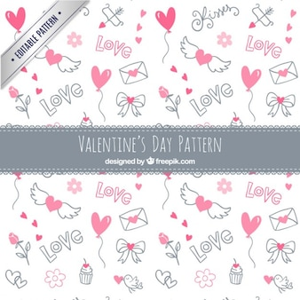 Sketches valentin tag elemente muster