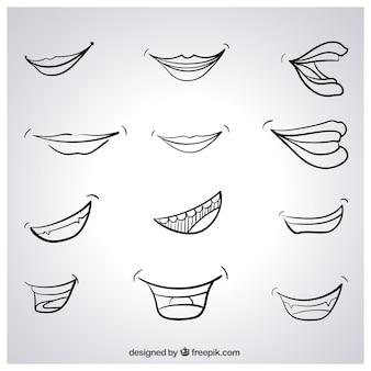 Sketchy lächeln
