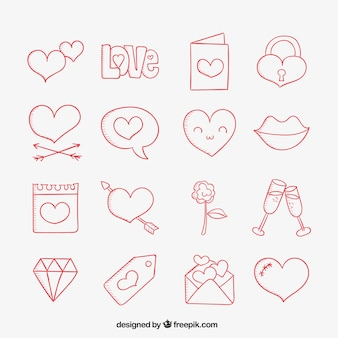 Sketchy liebe icons
