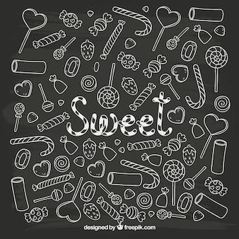 Sketchy süßigkeiten