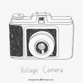 Sketchy vintage kamera