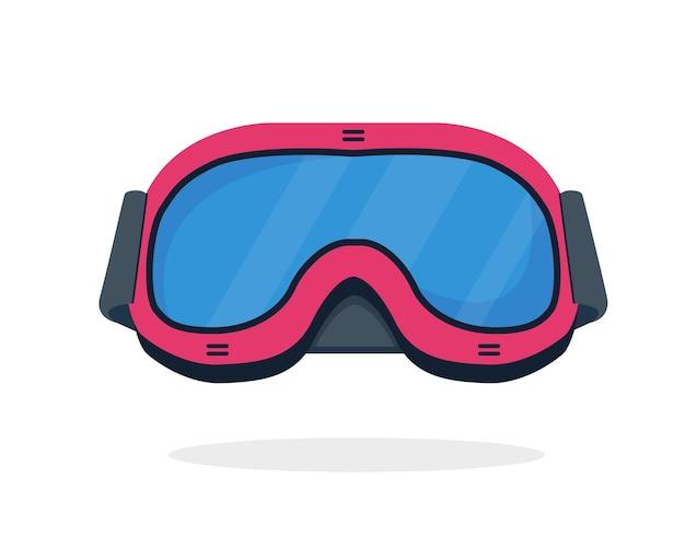 Ski- oder snowboardbrille lokalisiert auf weiß