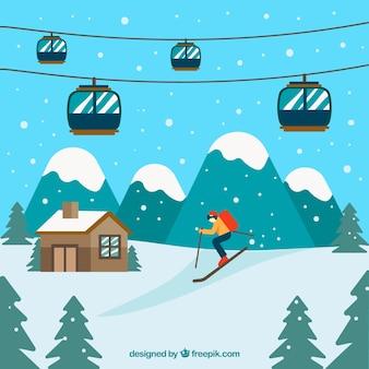 Ski station design
