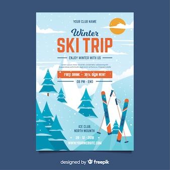 Ski trip flyer vorlage