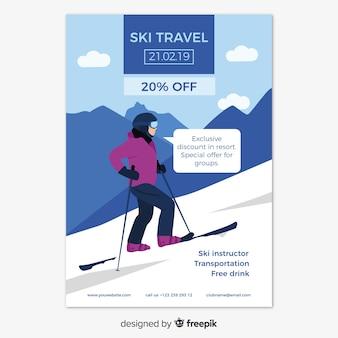 Ski-trip-flyer-vorlage