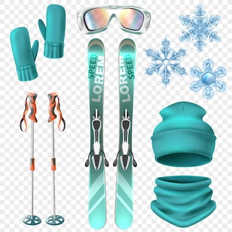 Ski winter set