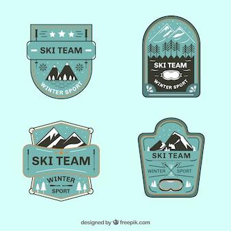 Skiabzeichensammlung