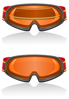 Skibrille vektor-illustration