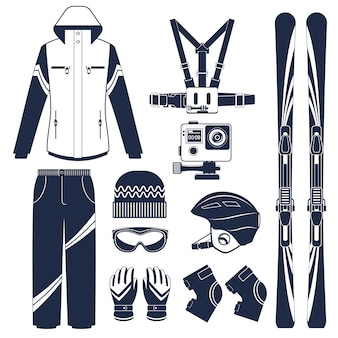 Skifahren. extremer wintersport.