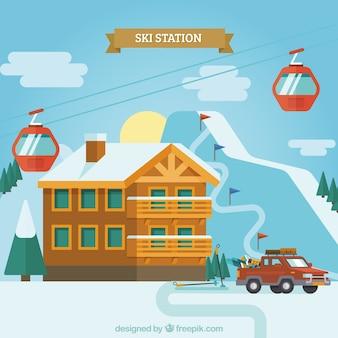 Skigebiet design