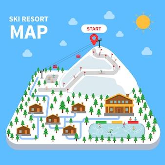 Skigebiet karte