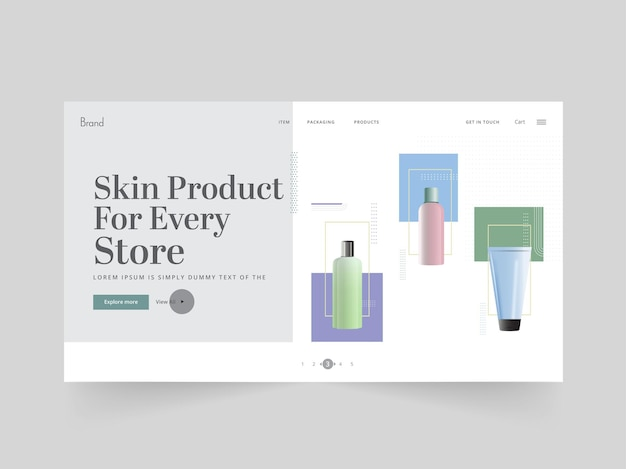 Skin product landing page oder web-banner-design für store oder shop.