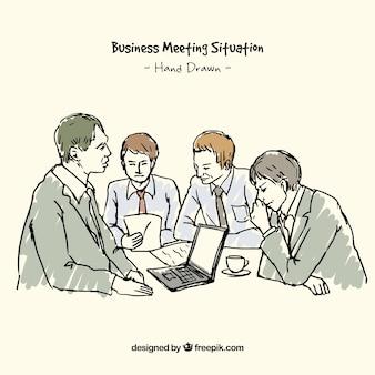 Skizze eines business-meeting