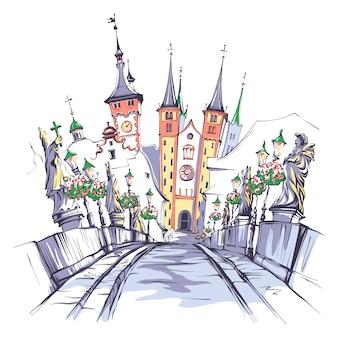 Skizze von würzburg
