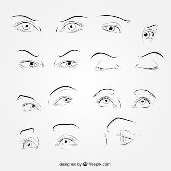 Skizzen von blicken sammlung