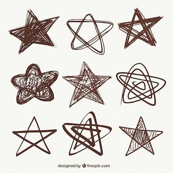 Skizzen von dekorativen sternen