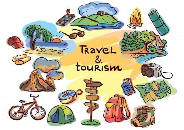 Skizzenreise-ikonenset