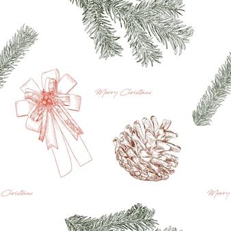 Skizzenvektor des weihnachtskonzepthandabgehobenen betrages.